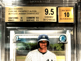 Jasson Dominguez rookie card