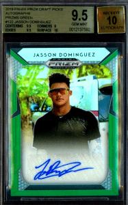 Jasson Dominguez Prizm rookie card