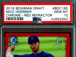 Nico Hoerner rookie card