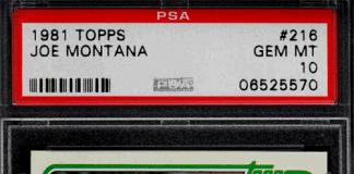 joe montana rookie card