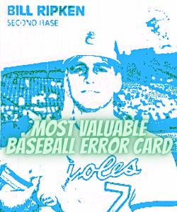 Are error Baseball cards worth anything
