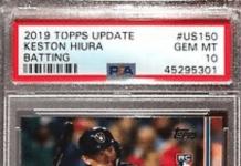 keston hiura rookie card topps