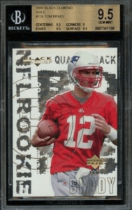 tom brady rookie card black diamond