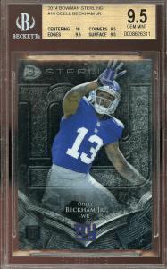 ODELL BECKHAM bowman rookie card