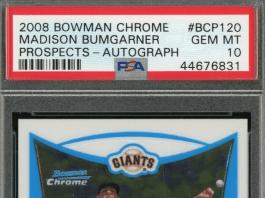 Madison Bumgarner Bowman Rookie Card
