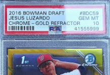 Jesus Luzardo bowman rookie card