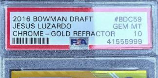 Jesus Luzardo bowman rookie card