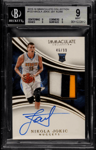 Immaculate Collection Nikola Jokic rookie card