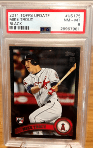 2011 mike trout topps update black border