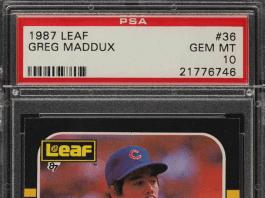 Greg Maddux Leaf Rookie Card