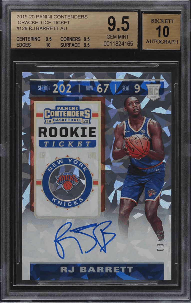 rj barrett cracked ice rookie card