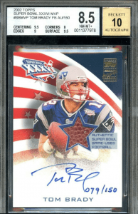 tom brady football card