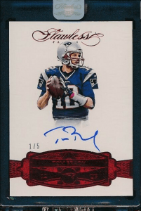 tom brady flawless card
