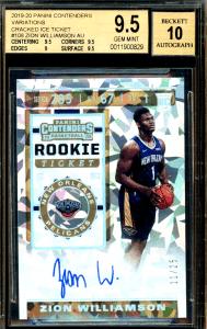 zion williamson rookie card ebay