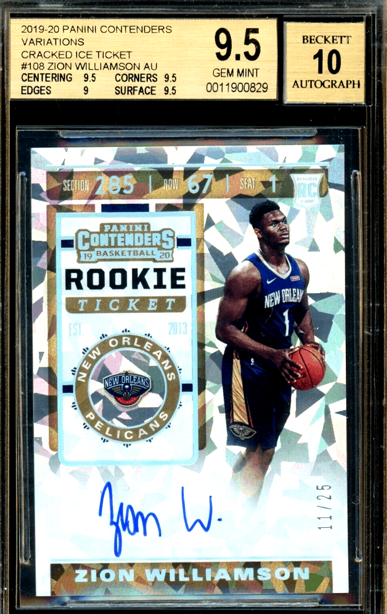zion williamson rookie card ebay