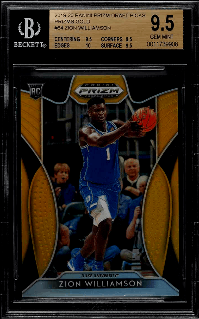zion williamson prizm draft picks 64