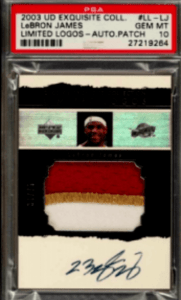 LeBron James Upper Deck Exquisite