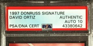 David Oritz rookie card auto