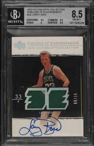 larry bird auto basketball card