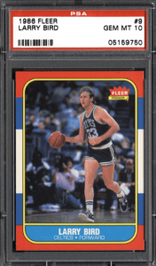 1986 Fleer Larry Bird Card