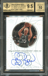 larry bird autograph card