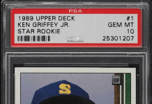 1989 upper deck ken griffey jr bgs 10