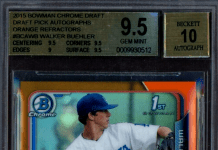 Walker Buehler rookie card