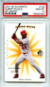 albert pujols rookie cards on ebay