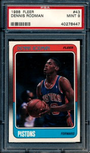 Dennis Rodman Fleer Rookie Card