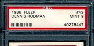 Dennis Rodman Fleer Rookie Card
