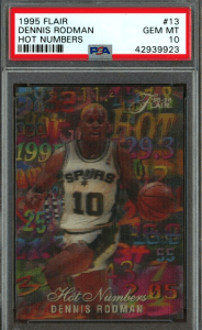 Dennis Rodman spurs basketball card