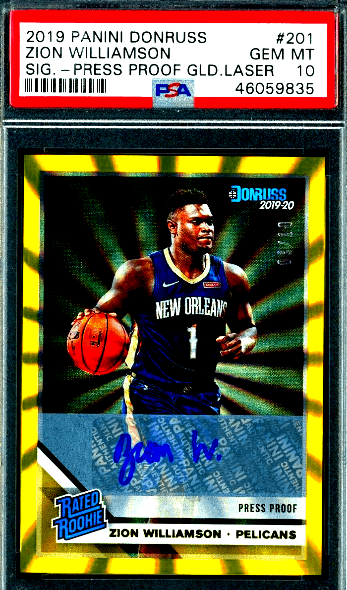 zion williamson rookie card psa 10