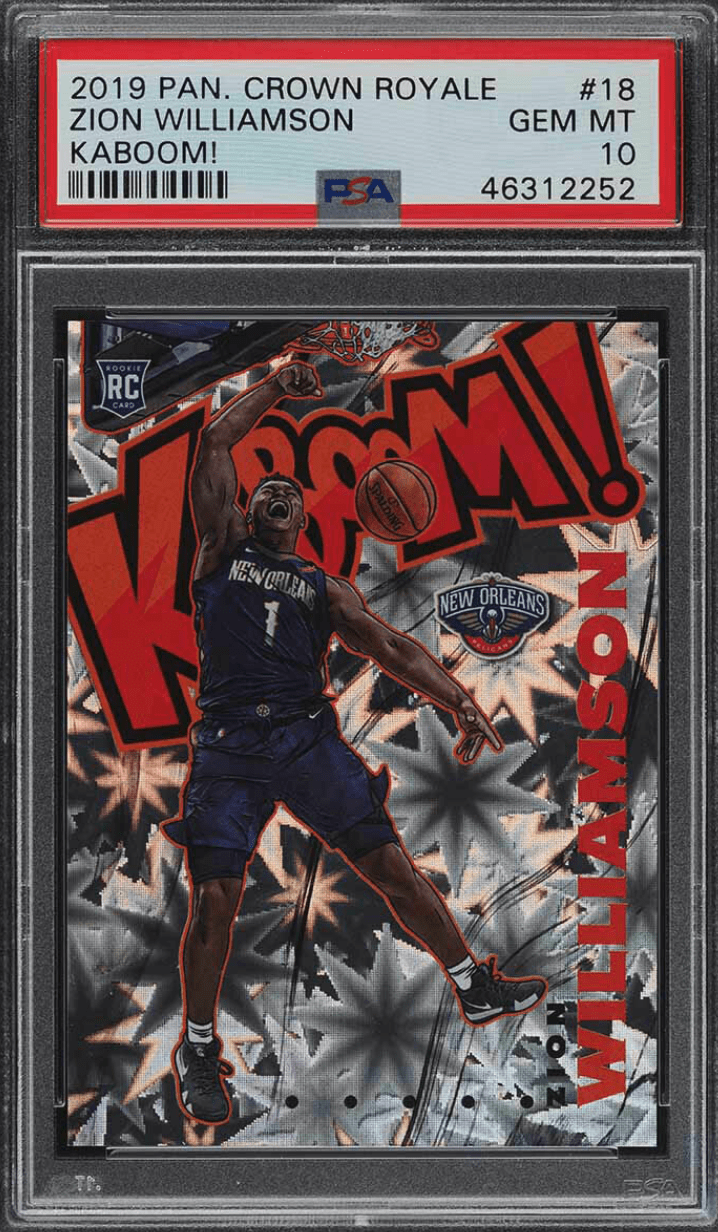 zion williamson kaboom card