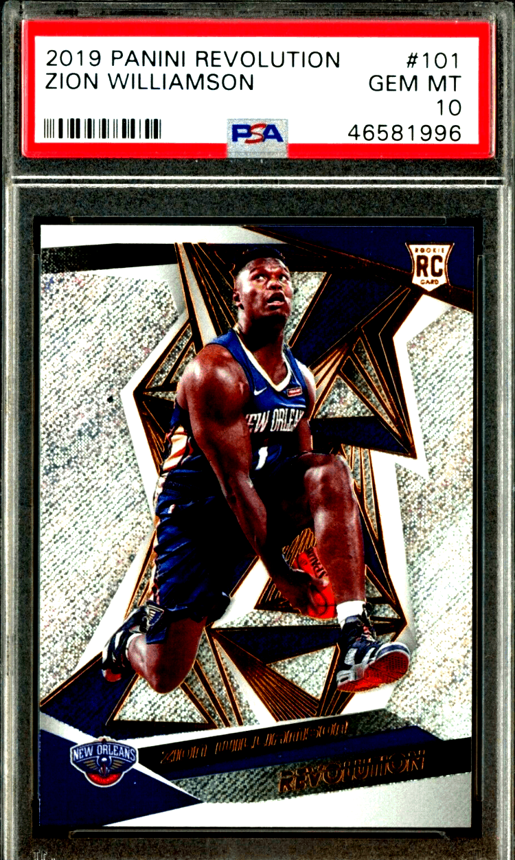 zion williamson rookie card panini