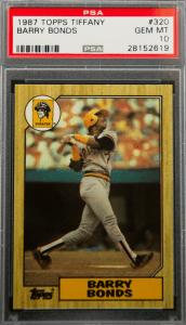 Barry Bonds Baseball Rookie Card