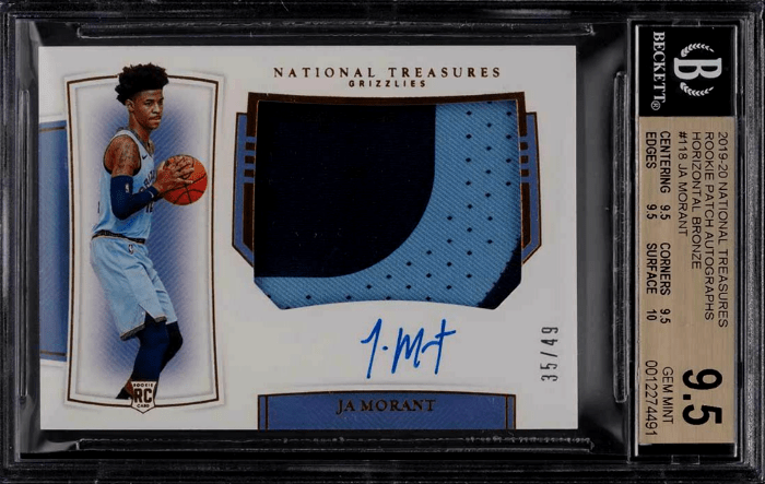 Ja Morant Rookie Card Checklist