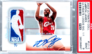 most expensive LeBron James rookie card