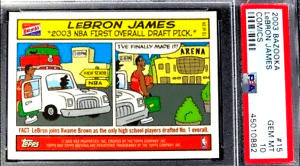 lebron james rookie card bazooka
