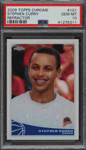 stephen curry topps chrome