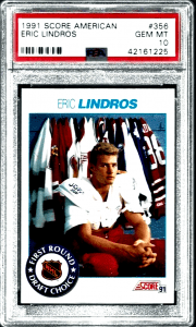 eric lindros rookie card value