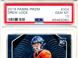 drew lock rookie card