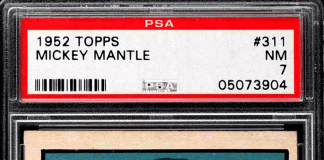 mickey mantle topps rookie card topps