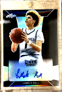 LAMELO BALL 2018 LEAF METAL DRAFT AUTO