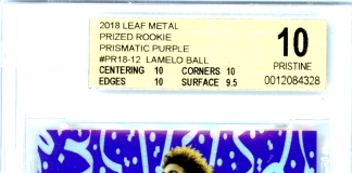 LAMELO BALL rookie card