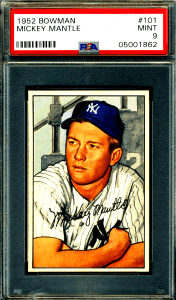 mickey mantle rookie card bowman
