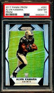 Alvin Kamara rookie card