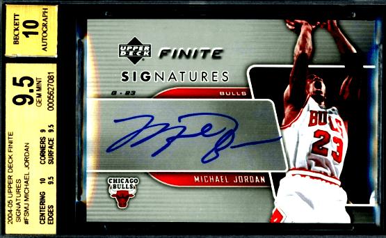 2004 Michael Jordan Upper Deck Finite Signature