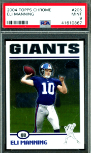 Eli Manning Topps Chrome rookie card