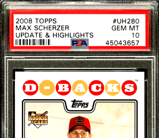 Max Scherzer rookie card