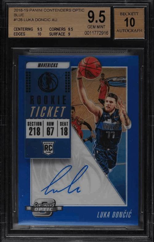 2018 Luka Doncic Contenders Optic rookie card